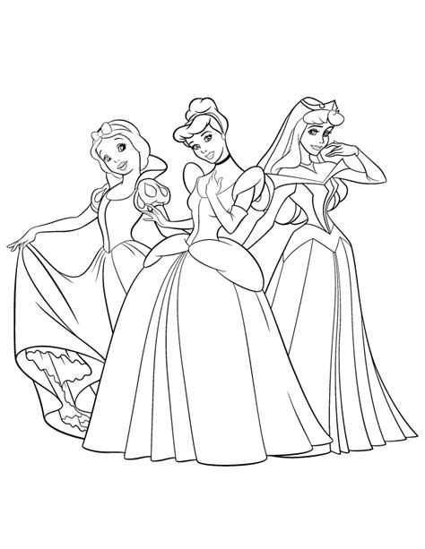 free coloring pages of princesses