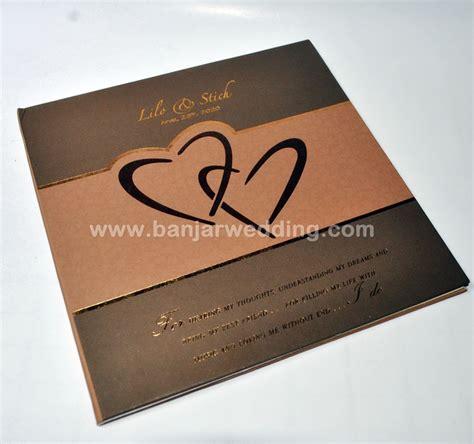 Murah Undangan Hardcover Mk Coklat Gold undangan hardcover ekslusif mt67 banjar wedding banjar