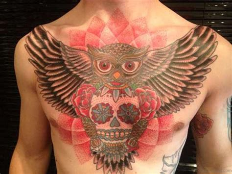 pec tattoos 70 outstanding owl tattoos for chest
