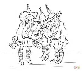 wizard of oz coloring pages wizard of oz munchkins coloring page free printable