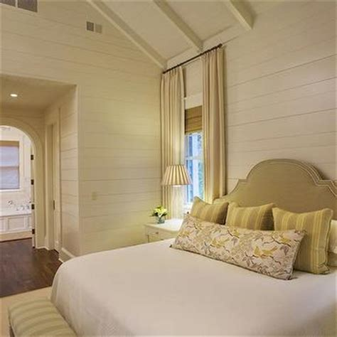yellow and beige bedroom striped curtains cottage boy s room tracery interiors