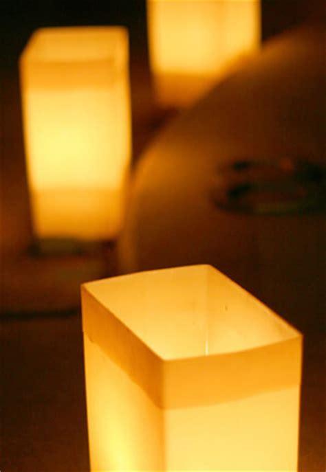 Flickering Paper Bag Luminary Lights