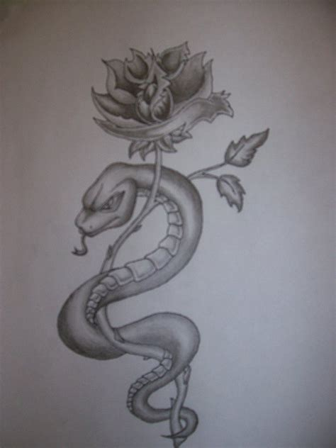snake and rose tattoo designs 33 snake and tattoos