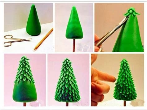 how to make simple clay christmas trees fondant tree fondant trees rincon and fondant tree