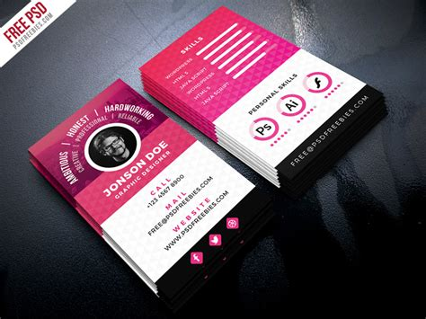 Resume Business Card Template by Resume Style Business Card Psd Template Psdfreebies