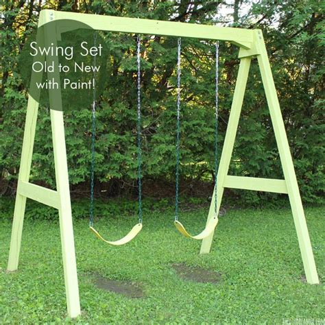 swing set to new with paint diy swing kid and swings