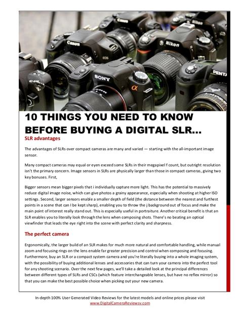 things i need to know when buying a house digital camera reviews 10 things you need to know before buying a d