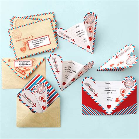paper airplane valentines martha stewart crafts notes paper airplane card