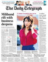 sunday telegraph business section newspaper headlines business letter row and lottery