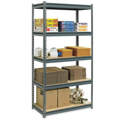 Edsal Heavy Duty 4 Shelf Steel Shelving by Furniture Cool Black Four Tier Edsal Shelving Made Of Iron For Garage Furniture Ideas