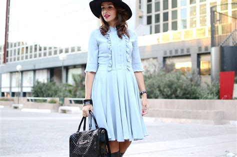 el blog de silvia rodriguez blog de moda street style working lady dress with hat el blog de silvia rodriguez blog