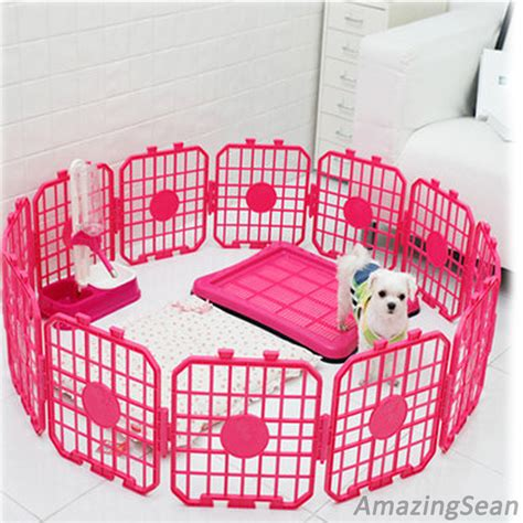 puppy playpen pet playpen 8 12 24 panel pet fence exercise pens kennel cat fence panel ebay
