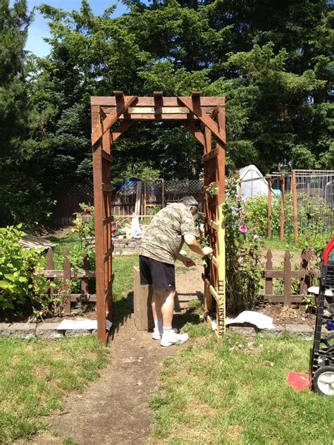 Garden Arbor Made From Pallets Garden Arbor Made From Pallets And Stained With A 5 Can