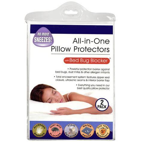 all in one protection with bed bug blocker pillow