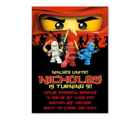 ninjago birthday card template ninjago birthday invitations ninjago birthday invitations