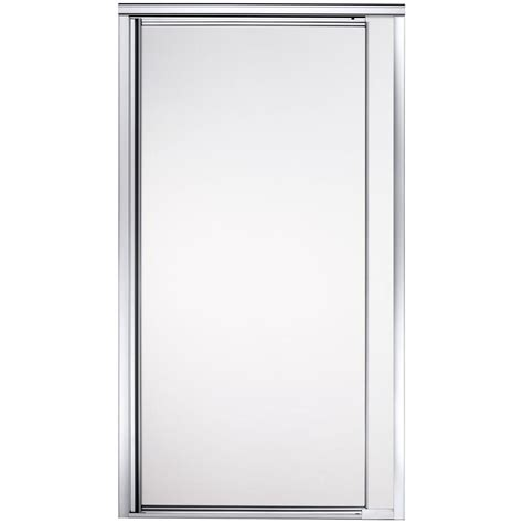 Sterling Glass Shower Doors Sterling Vista Point 36 In X 65 1 2 In Framed Pivot Shower Door In Silver With Frosted Glass