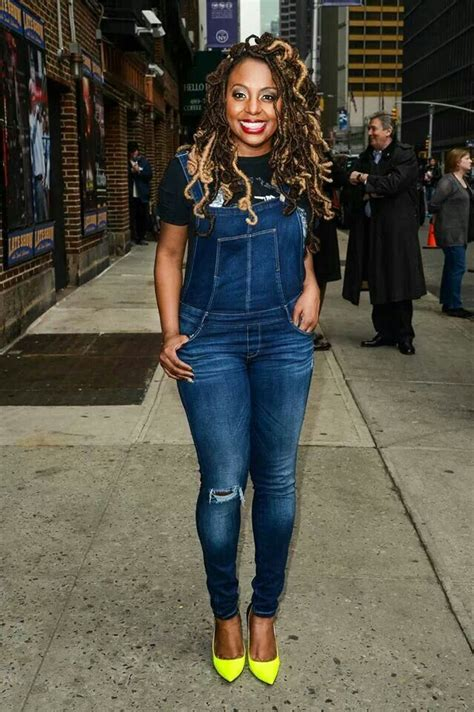 hairstyles to do with jumpsuit ledisi denim jean long pants jumpsuit romper cute look