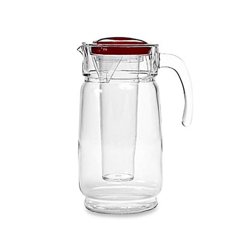 bed bath and beyond pitcher home essentials beyond 64 oz glass pitcher with ice