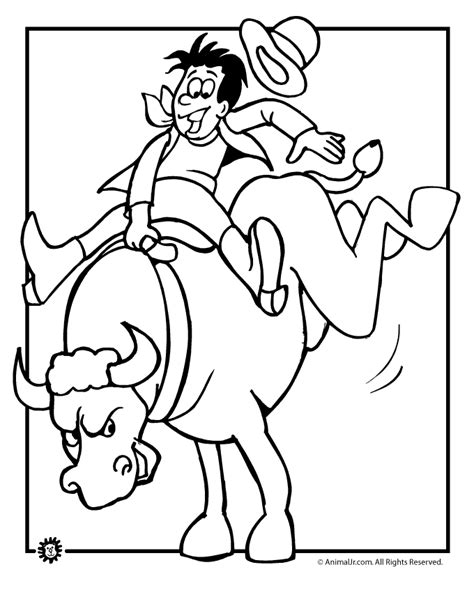 rodeo coloring pages 2 free coloring page site az