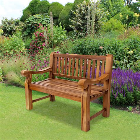 teak benches uk teak garden bench quot kingsbridge quot