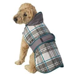 Comfort Jackets For Dogs Kodiak Dog Coat Aqua Plaid With Same Day Shipping