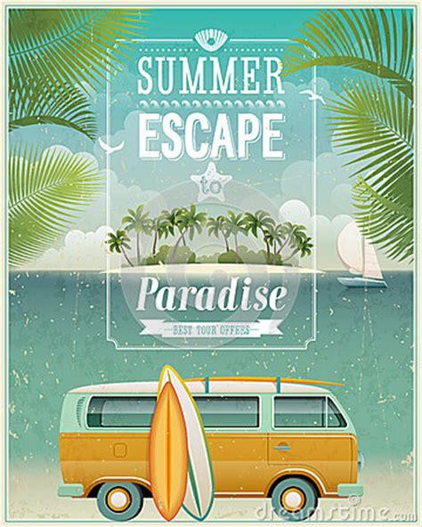 imagenes surf vintage vintage seaside view poster with surfing van endless