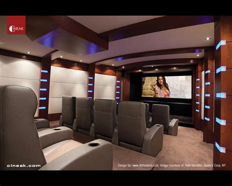 modern home theater media room and private cinema seats by cineak modern