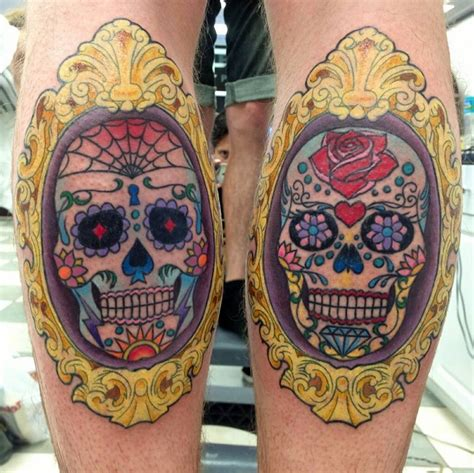 day of the dead skull tattoo tattoos and designs page 95