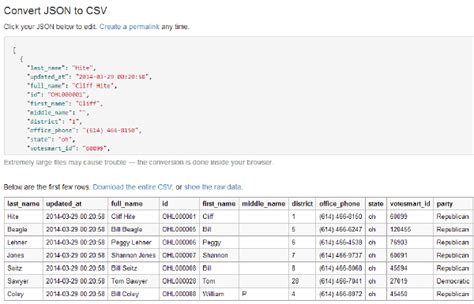 Json Table by Converter Makes Json As Understandable As A Spreadsheet