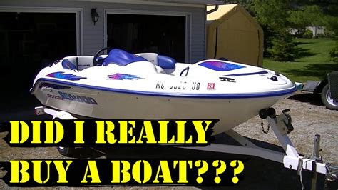 sea doo sportster le jet boat did i really buy a boat 1997 sea doo sportster youtube