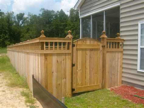 spindle lattice moss grove fence gate design custom moncks corner