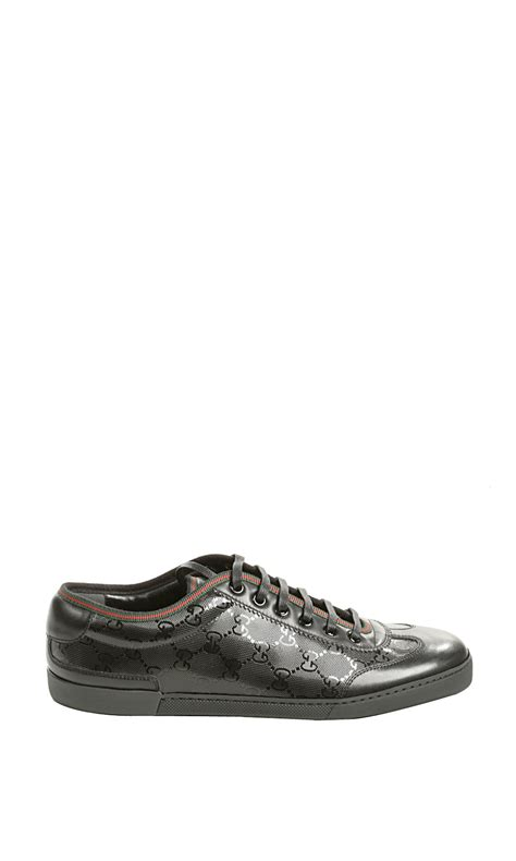 gucci tennis shoes for gucci barcelona tennis sneaker in black for lyst