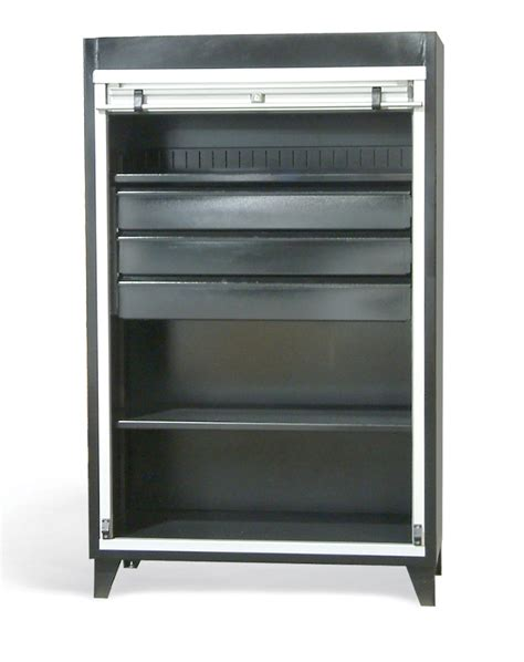 Cabinet Roll Up Door Strong Hold Products Roll Up Door Cabinet With Drawersroll Up Door Cabinet With Drawers