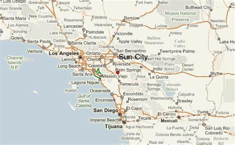 sun city california map sun city california location guide