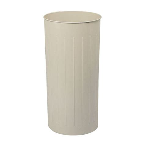 tall trash can safco 174 tall round wastebasket at kitchensource com