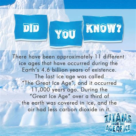 earth the biography ice facts the titans from the age of ice field trip hands on