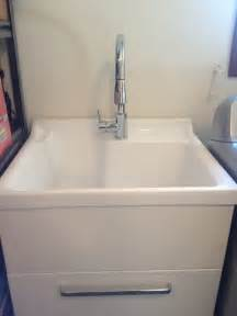 Laundry Sink Cabinet Home Depot by Utility Sink With Cabinet Home Depot Free Standing Sinks