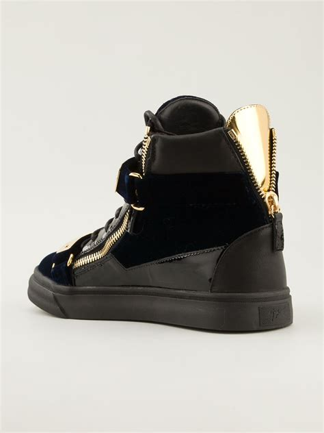 giuseppe sneakers for giuseppe zanotti hitop sneakers in blue for lyst