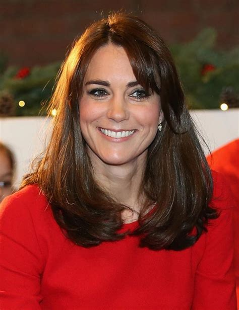 get the look kate middletons autumnal fringe hair the different ways to style a fringe like kate middleton