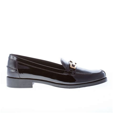 womens black patent leather loafers tods shoes black patent leather loafer