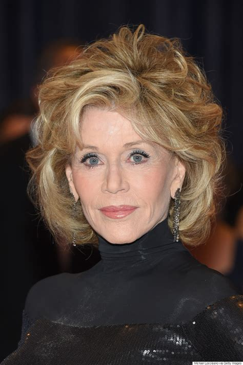 what color hair is jane fondas jane fonda stuns in slinky black dress at white house