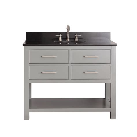 42 inch single sink bathroom vanity in chilled gray