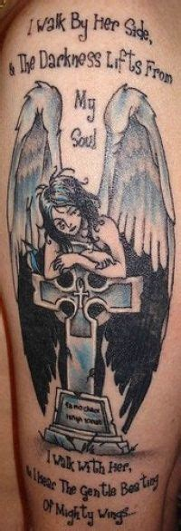 tombstone cross tattoos on tombstone memorial for my only