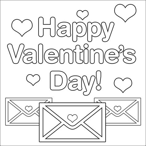 Happy Valentines Day Coloring Pages 14 happy s day coloring pages