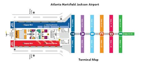 atl terminal map atlanta airport map airtran terminals swimnova
