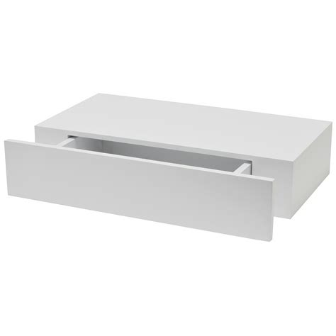 etagere 90 cm white matt drawer shelf l 400mm d 250mm departments