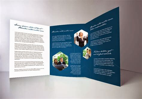indesign brochure templates free indesign tri fold brochure template 1 free