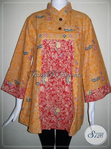Batik Wanita Blus Kantor batik wanita untuk busana kerja kantor blus batik santai untuk wanita cantik bls651ct xl