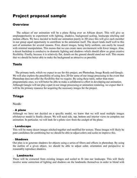 Simple Technical Project Template Simple Project Template Exles Exle Marevinho