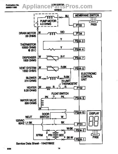 parts for frigidaire mdb122rfs0 wiring diagram parts
